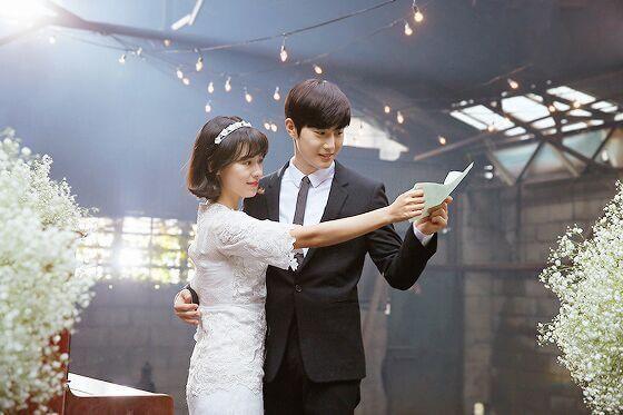 "Suho insieme a Ji Woo nel Drama ""Universe's Star"""