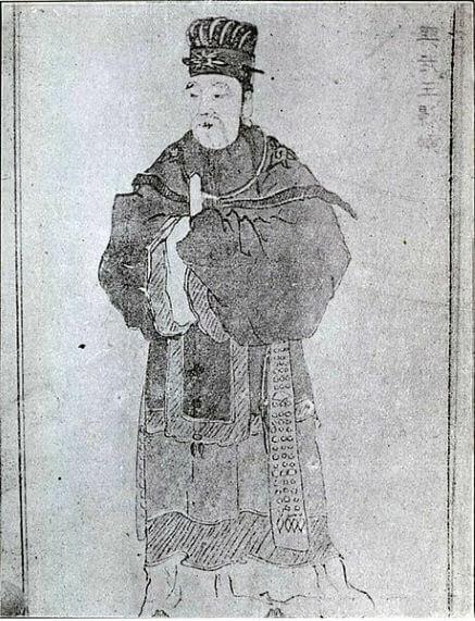 Un ritratto del generale Kim Yu-Shin